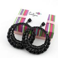 Mix mini order is $10 ,full rhinextone  earing ear hook,free shipping new fashion jewelry black