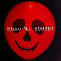 50 pcs/Lot, Free Shipping, High Quality. Led Light Flashing Balloons. Conventional  Festival Halloween Party Decoration.