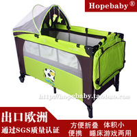 Folding baby bed bb bed game bed child bed travel bed band mosquito net roller -Cye2