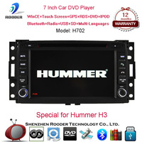 Free shipping 2din car dvd/audio/radio/video/ipod player with usb mp3 bluetooth dvd fm radio rds and gps navigator for Hummer H3