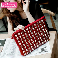 Hot-selling 2013 rivet day clutch fashion day clutch bag small female one shoulder cross-body women's handbag