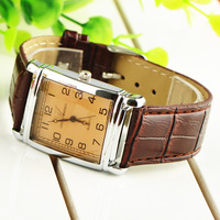 Brown Fashion Luxury Business Gentle Men's Man Analog Dress Leather Band Quartz Wrist Watches Promotional Sports New Hot