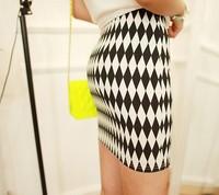 Fashion summer 2013 vintage neon color slim hip skirt short skirt bust skirt