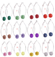 Hot selling New style Shamballa Earrings Micro Pave Disco Ball Bead Shamballa Earrings free shipping by china post air mail.