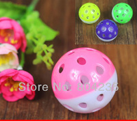 Free shipping! Wholesale 50PCS/LOT colorful ball pet toy for cats and dogs, pet toys,cat toy