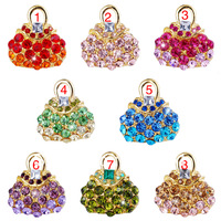 2013 NEW Hot selling Brooches CZ diamond Brooches with gift box 8pair/lot free shipping by china post air mail.