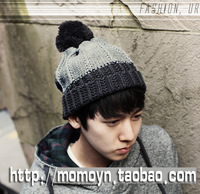 Hat male winter thermal 2012 outdoor casual yarn knitted hat