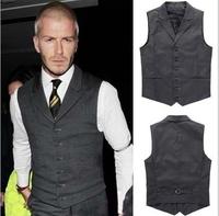 New Arrival David Beckham suit vest,Men's business casual suit vest,Men's high quality cotton suit vest,Free Shipping