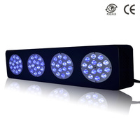 60cm 2 feet long 180w Aquarium Led Lighting for Marine Fish Reef Tank,60pcs 3w LEDs Royal Blue:Cool White=1:1 90 Degree Optics