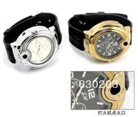 2013 Military Lighter Watch Novelty Man Quartz Wristwatch Butane Cigarette Cigar Men Watches Lighter Item 3 Colors to choose