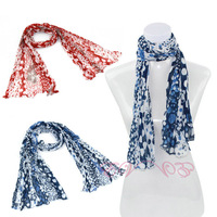 Wholesale,Fashion new rural style,2 colors,ladies countryside style little floral print long silk cotton beach pashmina scarves
