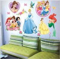 10pcs/lot princess girl room Nursery art peel and stick art wall sticker decal 33x60cm Free shipping F144