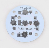 50pcs 48mm 5w led aluminum pcb high power light beads circuit board cooling plate
