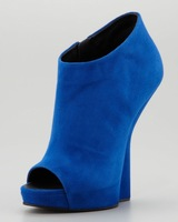 Free shipping New arrial super high heel wedged peep toes ankle boots excluding suede leather peep-toe shoes
