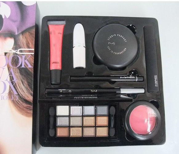 free shipping Makeup set 8 sets Lipstick + Lip Gloss + Mascara + Eye Shadow + Powder + Blush + Eyeliner + Eyeliner Pen(China (Mainland))