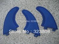 free shipping surfboard fin/fcs fin/surfboards G5 / fiberglass /blue /surf