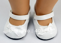 Doll shoes white mary jane for 18'' american girl doll shoes new s16