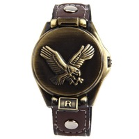 Wholesale Free Shipping Antique Bolun B1649 Eagle Men Wrist Watch With Leather Band