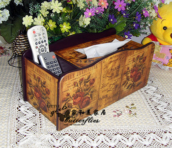 Home fashion rustic wool remote control storage box tissue pumping box paper pumping box