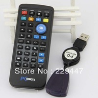free shipping Wholesale universal pc/infrared computer remote control with wireless mouse wireless keyboard function