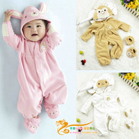 Hot-selling spring and autumn  polar fleece romper baby bodysuit  baby climbing clothes