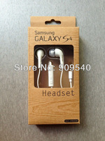 100pcs In-Ear Stereo Headset Earbuds Earphone for Samsung Galaxy S4 s 4  SIV i9500 handsfree with retail packing, Free shipping