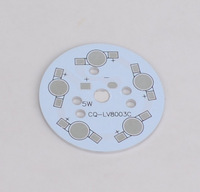 50pcs 5w led aluminum pcb high power led circuit board cooling plate diameter 50mm