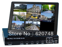 8 Channel DVR with 10 inch Digital LCD,  All-in-one design, 2CH D1+6CH CIF CCTV DVR with HDMI (Hisi3520a), with full accessories
