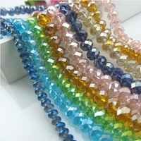 Wholesale 8/10mm mix  color  Plated AB Artificial crystal oval beads,glass beads