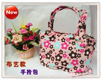 Women's handbag canvas bag small bag bow gentlewomen fashion tote bag hand bag  MOQ>=10USD