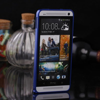 Luxury Ultrathin Aluminum Metal Protective Back Cover Frame Bumper Case for HTC One M7
