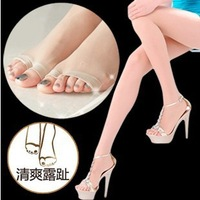 Womens Silk Stocking Sexy Tights pantyhose Lady Dew Toe Tights With Toes For Open Toe Shoes 12D Free Shipping