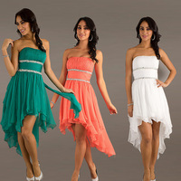 2013 New Arrival Fashion Sweetheart Front Shot Back Long Prom Evening Formal Cocktail Dress Custom Made Free Shipping