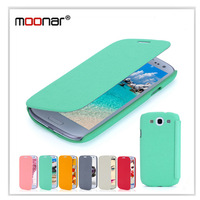 Retail PU Leather Flip Case Cover for Samsung Galaxy S3 SIII i9300 free shipping 6 Colors