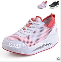 Free shipping ! Fashion Lace-Up Casual Breathable Women's Shoes Genuine Leather Mesh Running Fitness Sport sneakers Shoes LB025