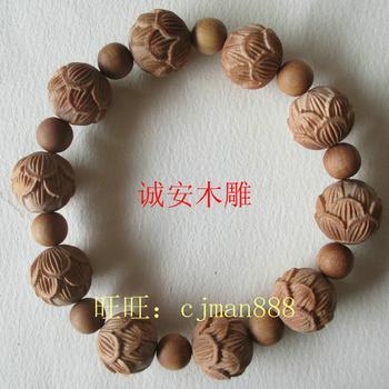 бисера Лаошана сандалового дерева браслеты браслет повезло лотоса Cheng.