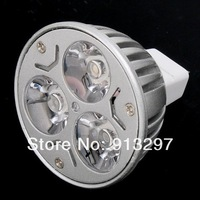 LED Spotlight 3 * 1W GU5.3 MR16 12V Warm White LED bulb Lamp led Spot light lighting free shipping
