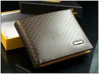 Promotion! Free Shipping Most value High-grade Cowhide with Leather line wallet,Fashion contracted wallet for men whoslesale