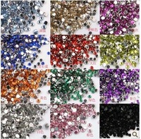 Wholesale 2mm acrylic nails Diamond / Diamond 500pcs 12 color selection