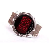 повседневные бизнес сенсорный дисплей привело часы для мужчин черный пояс красный энергии новых