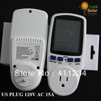 FREE SHIPPING 120V 15A High Quality US Plug LCD Wattmeter ,Voltage meter,Amper Meter Monitor,Power Meter,Digital POWER Meter