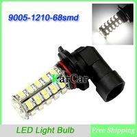 9005 HB3 68 SMD 1210 3528 LED Super Bright Car Fog Headlight Day Running Main Beam Light Bulb Lamp White 68LED