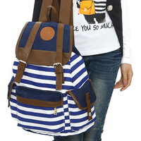 2014 free shipping cute school bags for teenage girls fashion preppy style vintage canvas casual bag