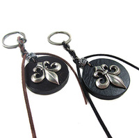 VK129(Min.Order $15)Wholesale,2013 Novelty Items,Vintage Keychain,Punk Leather Couple Keychain,Gifts, Keyring,High Quality