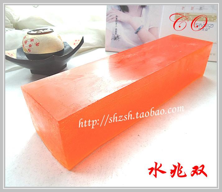 Handmade soap multicolour transparent soap base natural plant oil soap base red 1kg(China (Mainland))