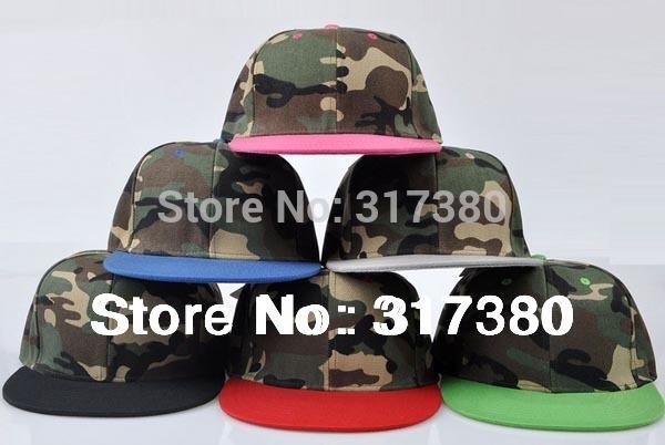 Wholesale10pcs Men Plain Camo Flex Fit Snapback Hats Women Camouflage Flat Brim Baseball Caps Mens Autumn Cap Summer Camping Hat(China (Mainland))