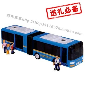 Super large double bus car model situational toys