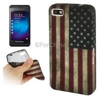 HOT Retro USA flag pattern TPU phone case for Blackberry z10