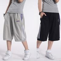 Summer thin loop pile cotton Sports Capris comfortable Basketball Capris Loose Casual knee-length Pants Capris