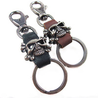 VK139(Min.Order $15)Wholesale,2013 Novelty Items,Vintage Keychain,Punk Leather Couple Keychain,Gifts, Keyring,High Quality